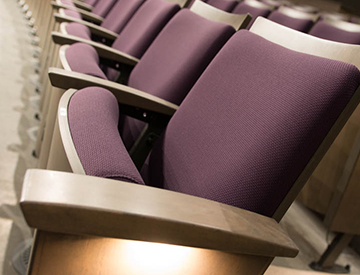 Alumni Theatre seats in the Haar Theatre