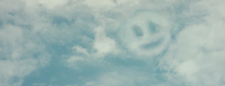 Clouds with smiley face