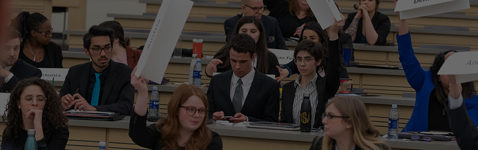 Model United Nations Conference Students