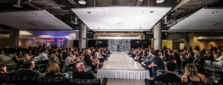 Conference and Event Services transformed the Heart of the Robbins into a fashion show runway