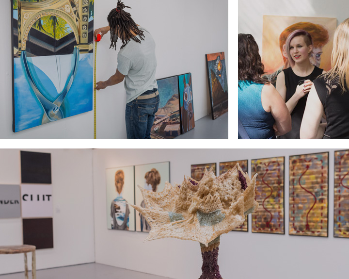 Fine Art Exhibition Spaces Artwork Gallery Students