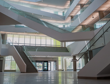 Allard Hall Atrium with view of the staircases