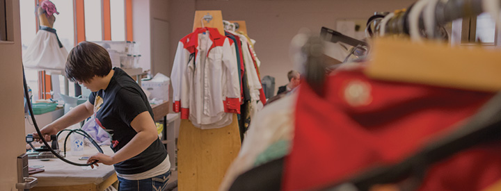 Theatre Production Female Student Working Wardrobe Room