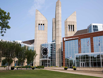 MacEwan Building with Clock