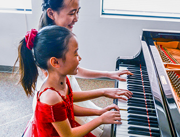 Students at piano
