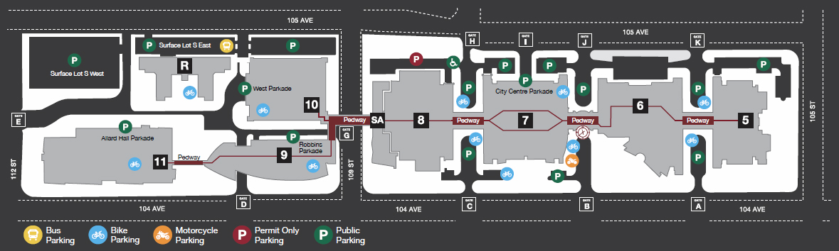 City Center Parking Map Illustration